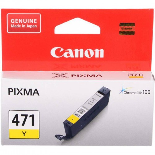 INK CART CANON 471 COLOUR YELLOW ORIGINAL @ (Available On Order Only)