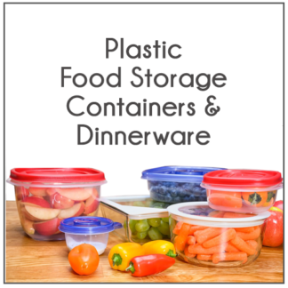 PLASTIC FOOD STORAGE CONTAINERS & DINNERWARE