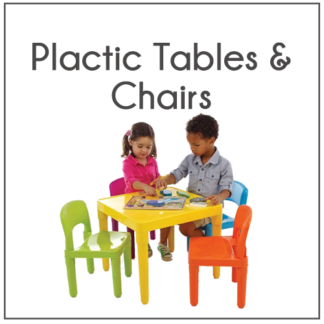 PLASTIC TABLES AND CHAIRS