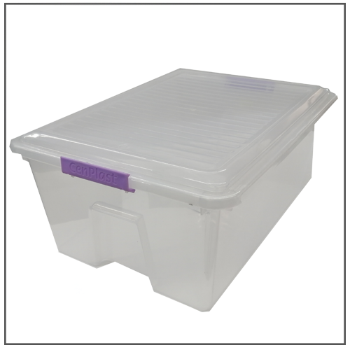 CONTAINER 4LT WITH CLIP LID CENPLAST