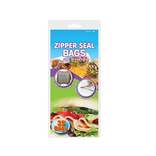 ZIP SEAL BAGS DISPOSABLE 35PC