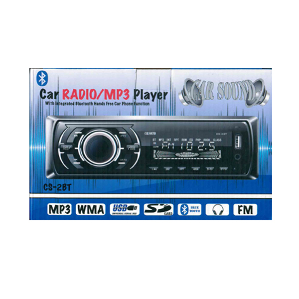 CAR RADIO WITH BLUETOOTH AND HANDS FREE SYSTEM CS-28T