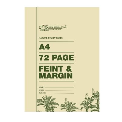 EXERCISE BOOK A4 72 PG FEINT AND MARGIN