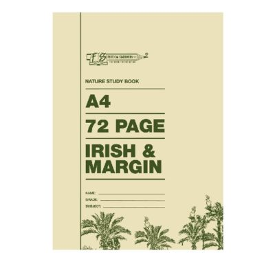 EXERCISE BOOK A4 72 PG IRISH AND MARGIN