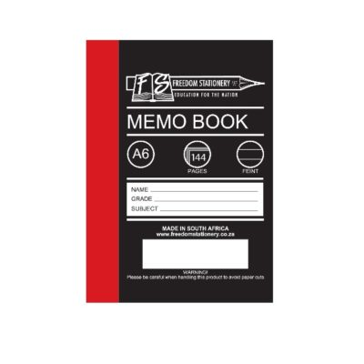 MEMO BOOK A6 144 PG HARD COVER