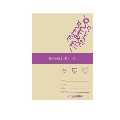 MEMO BOOK A6 72 PG SOFT COVERED