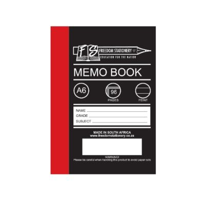 MEMO BOOK A6 96 PG HARD COVER