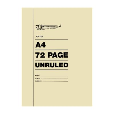 EXERCISE BOOK A4 72 PG JOTTER UNRULED