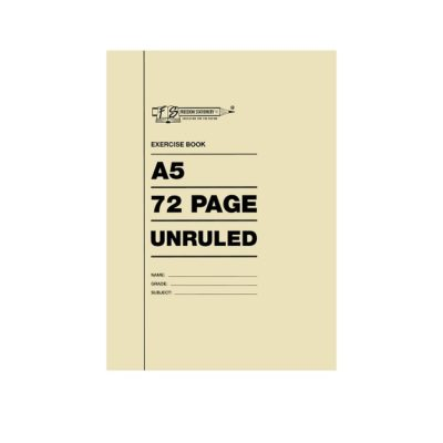 EXERCISE BOOK A4 72 PG UNRULED