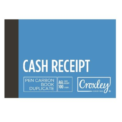 PEN CARBON CASH RECEIPT A6 LANDSCAPE JD16CR @ (Available On Order Only)