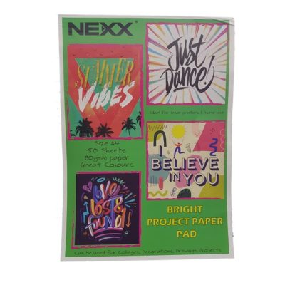 PROJECT PAPER PAD BRIGHT 50 SHEETS NEXX