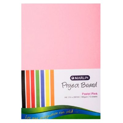 PROJECT BOARD PASTEL PINK A4 10 PK