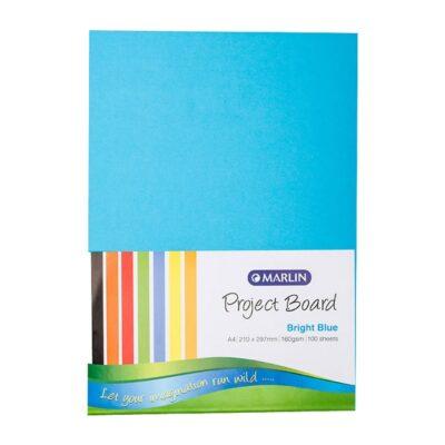 PROJECT BOARD A4 BRIGHT BLUE 100PK