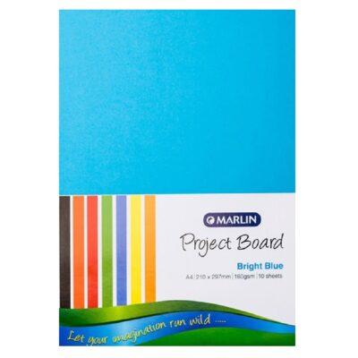 PROJECT BOARD BRIGHT BLUE A4 10PK