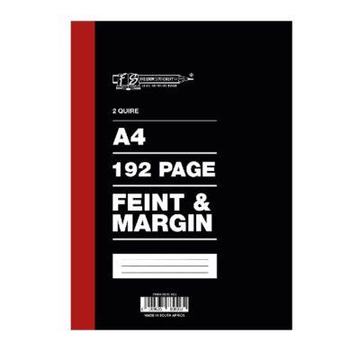 COUNTER BOOK 2 QUIRE FEINT & MARGIN