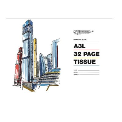 DRAWING BOOK A3 32PG TISSUE @ (Available On Order Only)