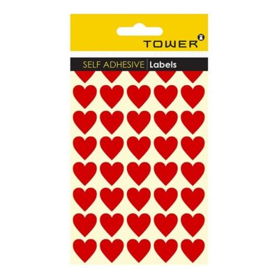 HEART STICKERS RED (160 STICKERS)