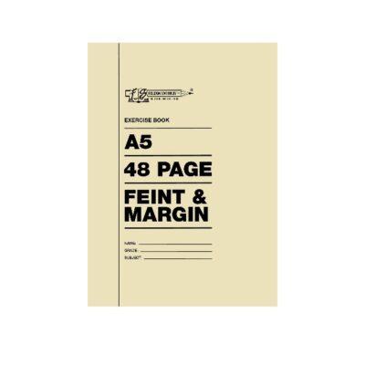 EXERCISE BOOK A5 48PG FEINT & MARGIN