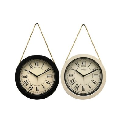 CLOCK ROUND WITH ROPE HOLDER