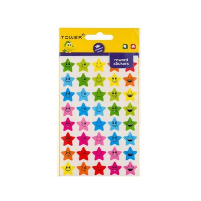 TOWER TEACHERS REWARD STARS WITH FACES STICKERS (80 STICKERS)
