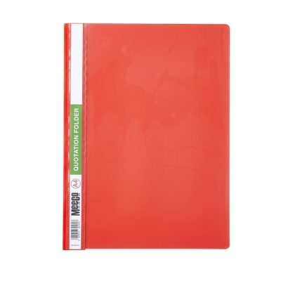 QUOTATION FOLDER ECONOMY A4 MEECO RED