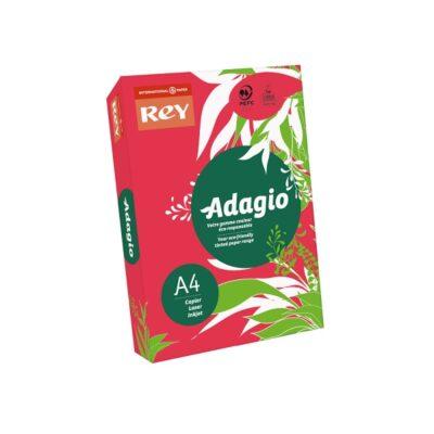 PHOTOCOPY PAPER ADAGIO A4 REAM BRIGHT RED