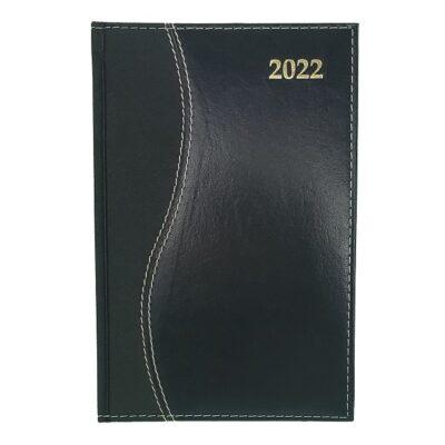 DIARY A4 S-STITCH REGENCY 2022 BLACK