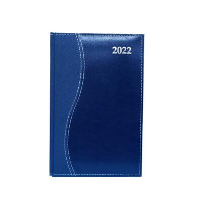 DIARY A5 S-STITCH REGENCY 2022 BLUE