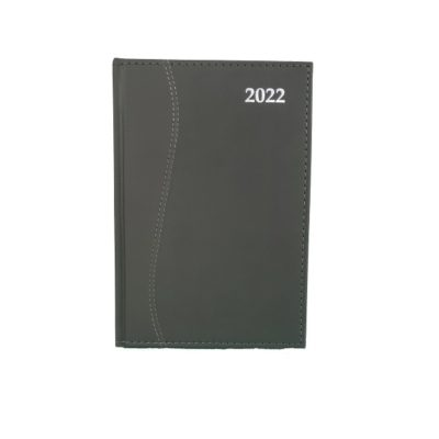 DIARY A5 S-STITCH SOFT TOUCH 2022 CHARCOAL