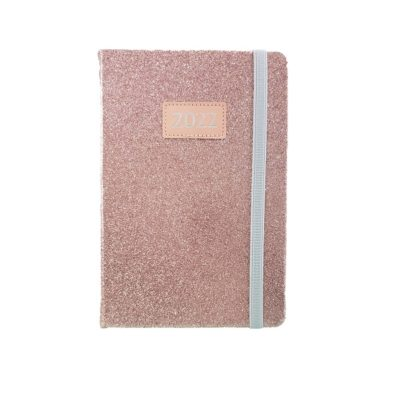DIARY A5 TREND GLITTER 2022 PINK