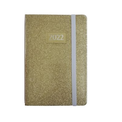 DIARY A5 TREND GLITTER 2022 GOLD