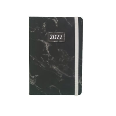 DIARY A5 TREND MARBLE 2022 BLACK