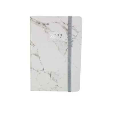DIARY A5 TREND MARBLE 2022 WHITE