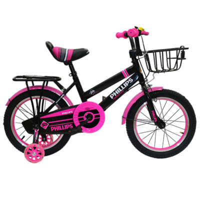 """BICYCLE BMX 16"""" PHILLIPS BLACK AND PINK"""