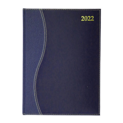 DIARY A4 S-STITCH REGENCY 2022 BLUE