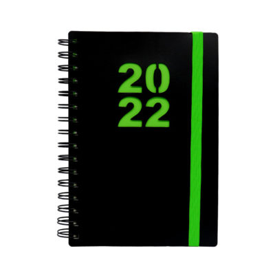 DIARY A5 WIRO 2022 GREEN