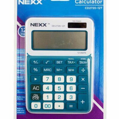 CALCULATOR NEXX 12 DIGIT DESKTOP SMALL CD2720 BLUE
