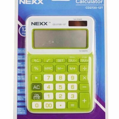 CALCULATOR NEXX 12 DIGIT DESKTOP SMALL CD2720 GREEN