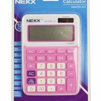 CALCULATOR NEXX 12 DIGIT DESKTOP SMALL CD2720 PINK