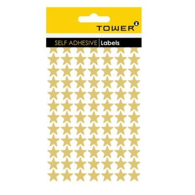 TOWER STAR LABELS GOLD (168 STICKERS)