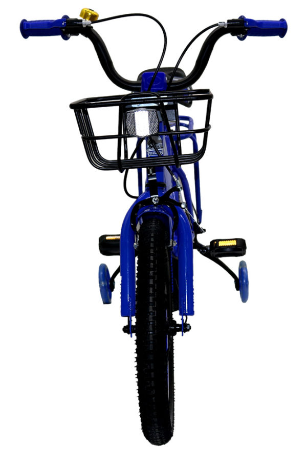 """Front view of Blue 16"""" Phillips BMX"""