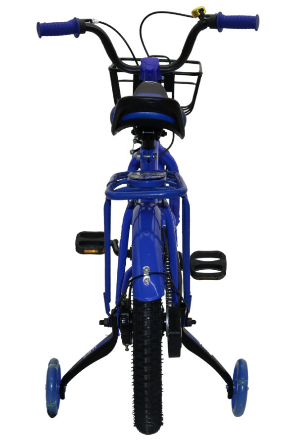 """Rear view of Blue 16"""" Phillips BMX"""