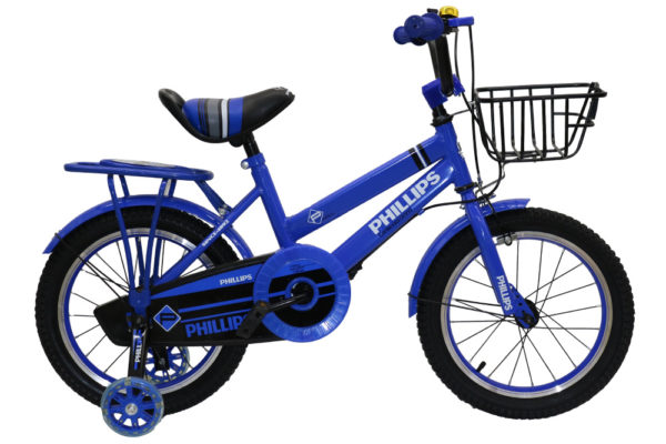 """Right view image of Blue 16"""" Phillips BMX"""